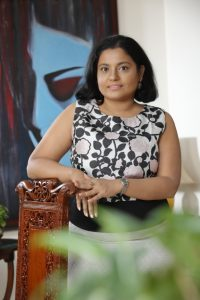 Kajal Nair, Owner and Designer, Nv-ya Fine Jewelry at her studio